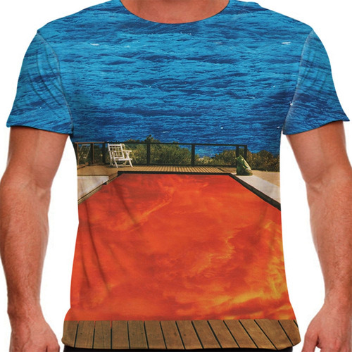camiseta rock red hot chili peppers californication masculin