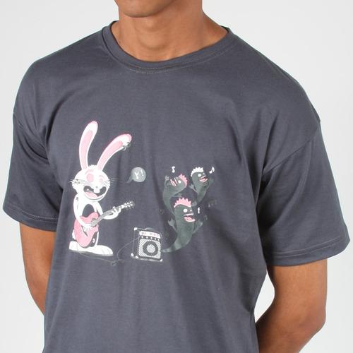 camiseta rock'n and roll masculino e feminino