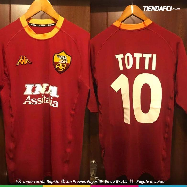 1f0c58b2d9aba Camiseta Roma Kappa Totti Retro Nueva Original -   155.000 en ...