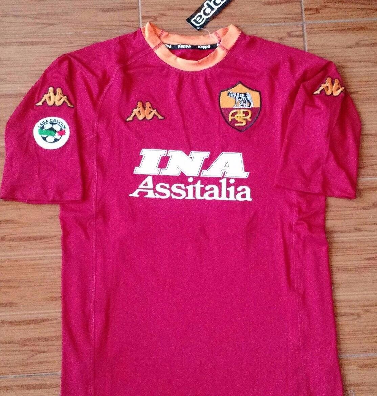 Camiseta Roma Retro Kappa Original Batistuta 2000 -   899 f1faf147d64b4