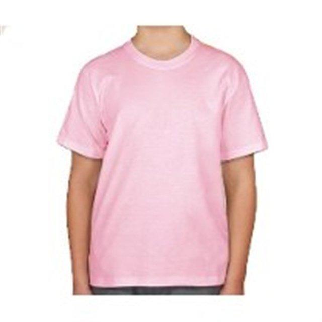 afdcfa6be3202 Camiseta Rosa Bebê Para Sublimação Lisa 100% Poliéster - R  8