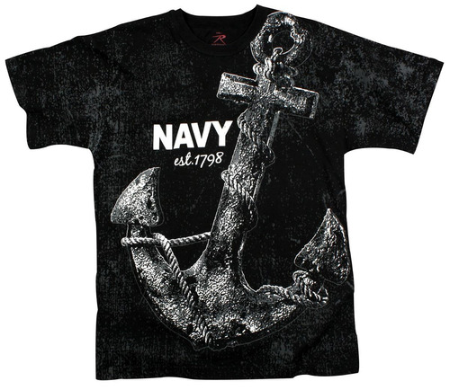 camiseta rothco estampada vintage navy anchor
