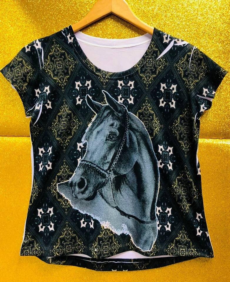 b1639e00b4991 camiseta roupa country feminina cavalo cinza promoção. Carregando zoom.