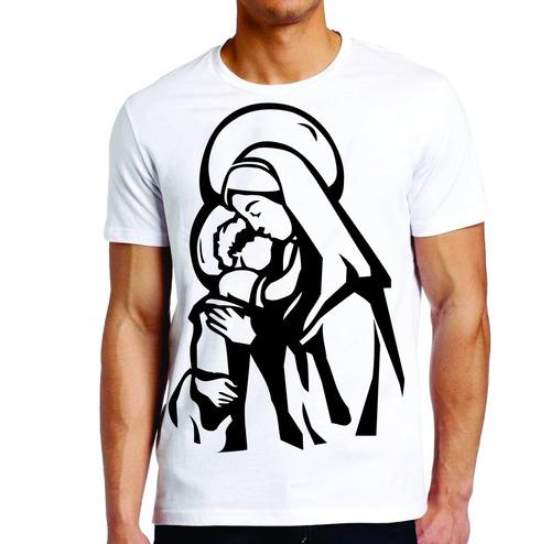 camiseta roupas masculina nossa senhora da aparecida preto