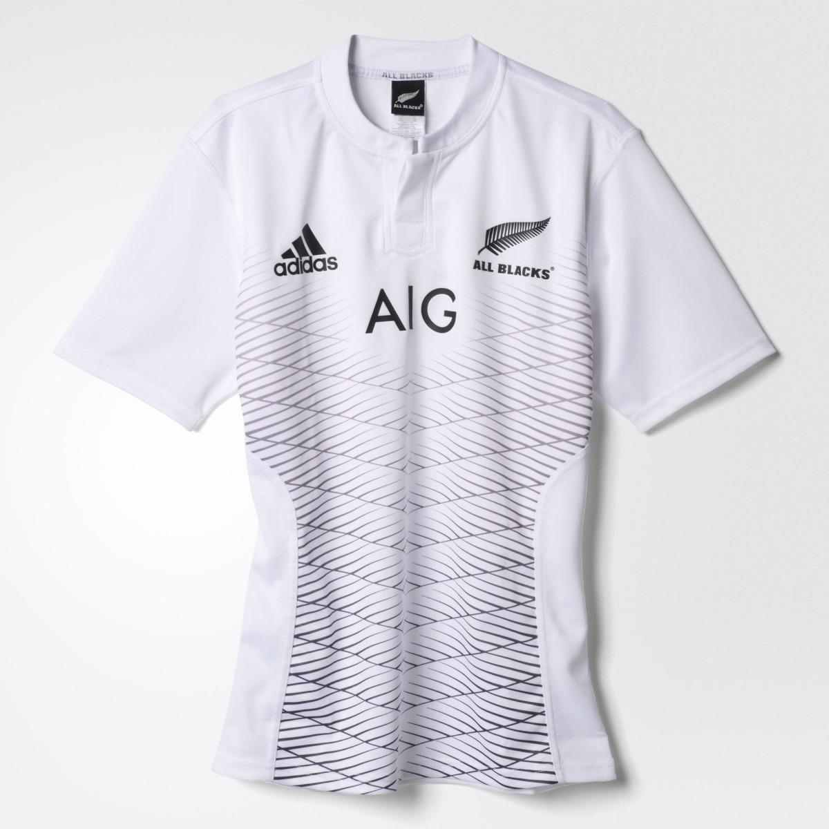 e4b50634b4a9d camiseta rugby adidas all blacks new zealand negra   blanca. Cargando zoom.