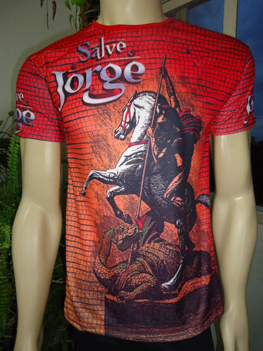 camiseta salve jorge, guerreiro da capadócia!