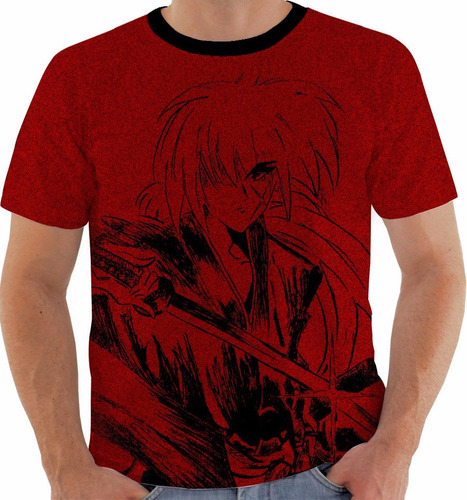 camiseta samurai x - kenshin - anime - mangá m363
