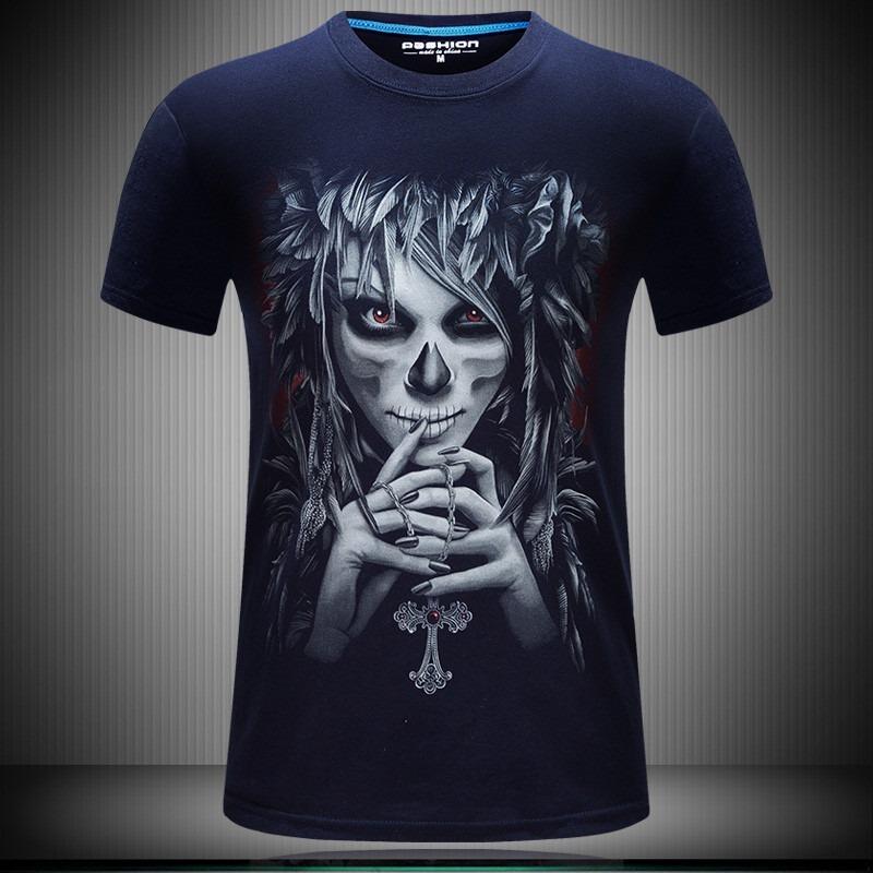 Camiseta Santa Muerte Camiseta 3d Pluz Size R 60 00 Em
