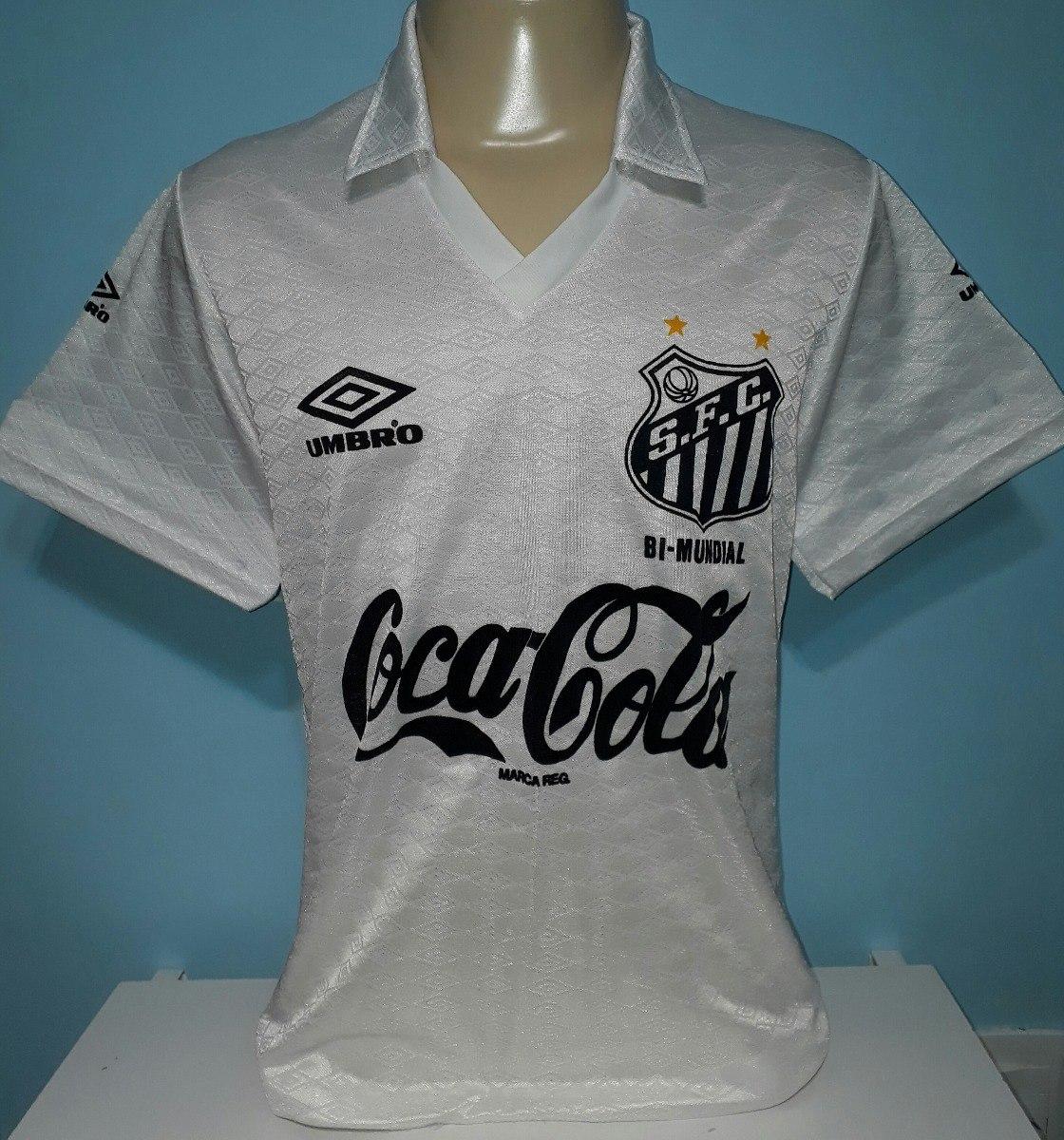 1a3c4d459ca6c camiseta santos antiga 1990 coca cola original umbro - 90. Carregando zoom.