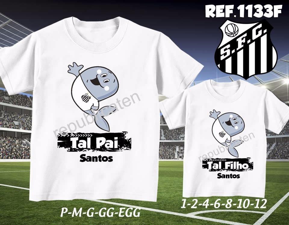 abaafc103e958 camiseta santos time futebol personalizadas kit com 2. Carregando zoom.