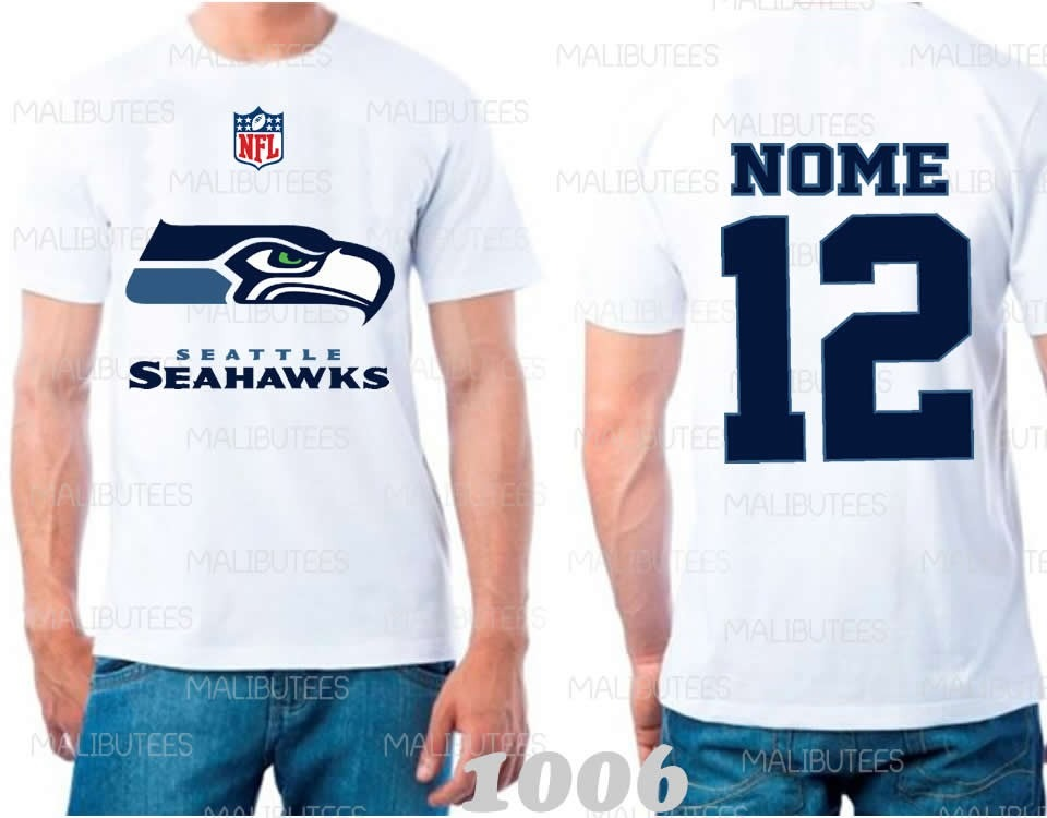 camiseta seattle seahawks nfl futebol americano time. Carregando zoom. 83225608015a6