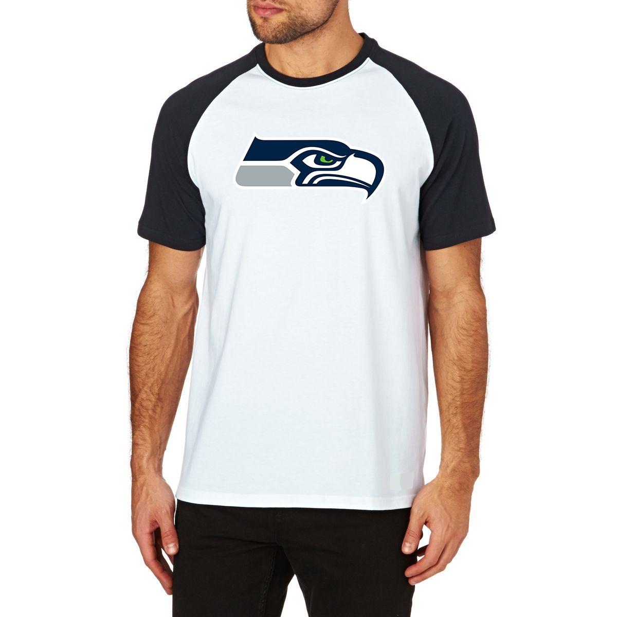 camiseta seattle seahawks raglan futebol americano nfl m02. Carregando zoom. 52fde027879