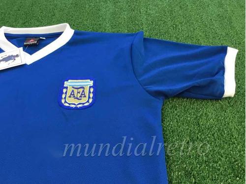 camiseta sel. argentina  maradona mundial méxico 1986 azul