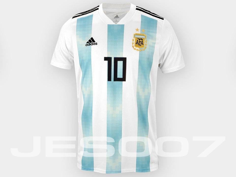 Nueva Camiseta Titular Selección Argentina 2018 - 10 Messi ... 7ab9fc3c8041e