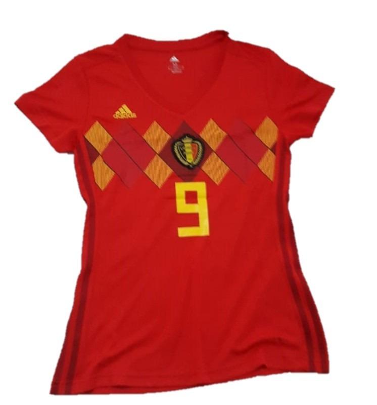 287fc439 camiseta selección bélgica lukaku #9 oficial mujer 2019 dama. Cargando zoom.