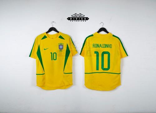 camiseta seleccion brasil 2002 brazil ronaldinho gaucho