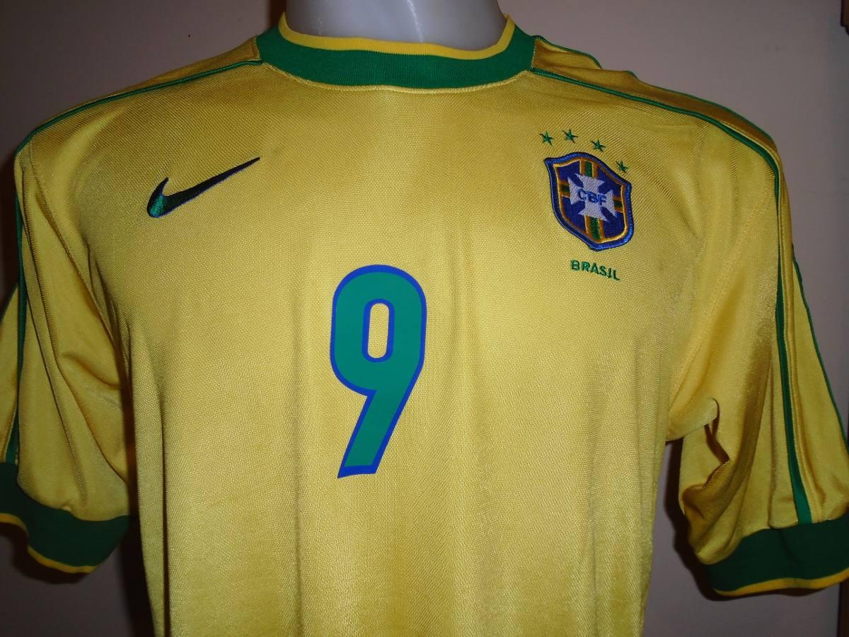445f416696f18 Camiseta Selección Brasil Mundial Francia 1998 Ronaldo  9 M ...