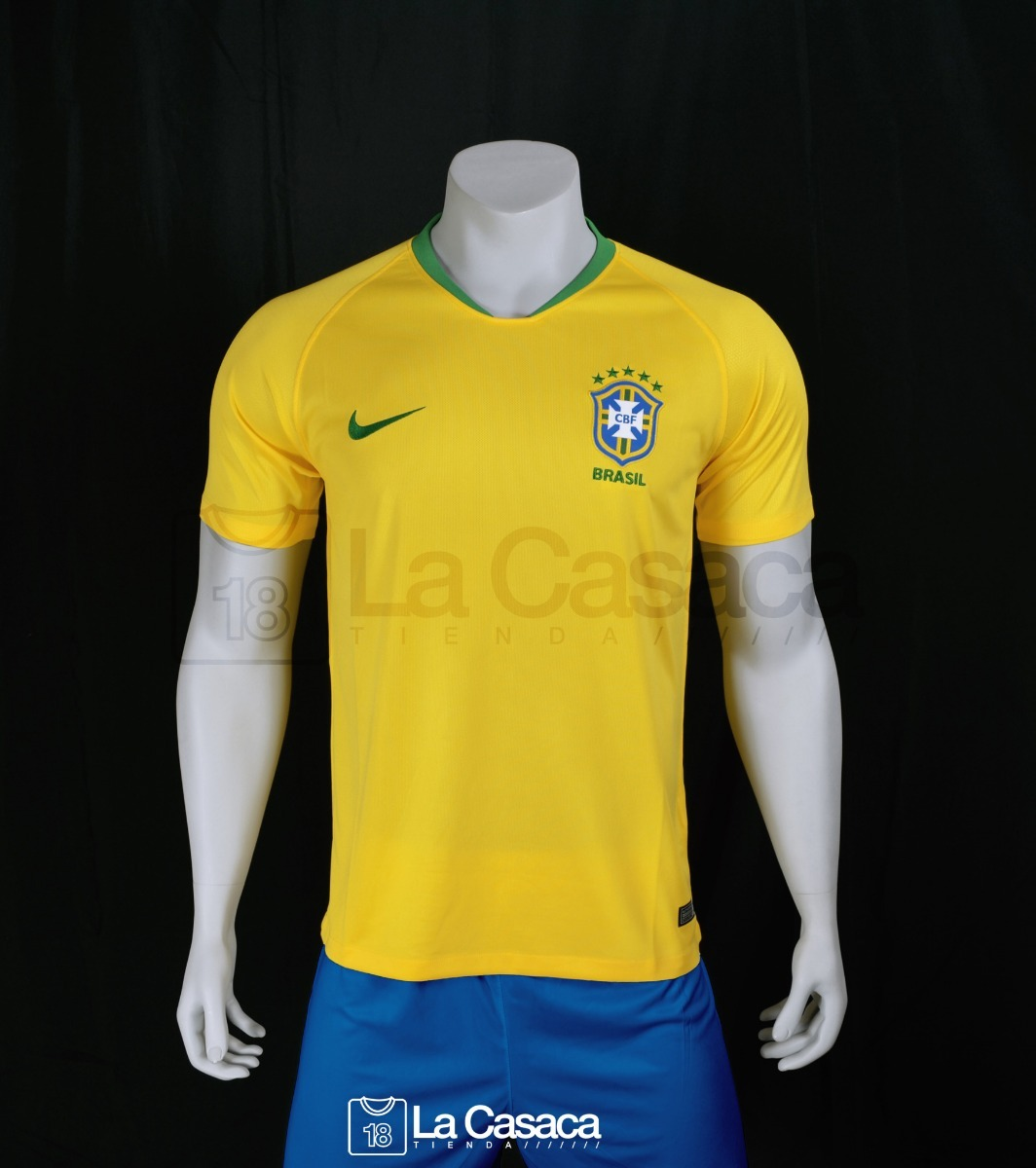 3cd74d84a7 Camiseta Seleccion Brasil Local 2018 Neymar Jr Mundial -   149.900 ...