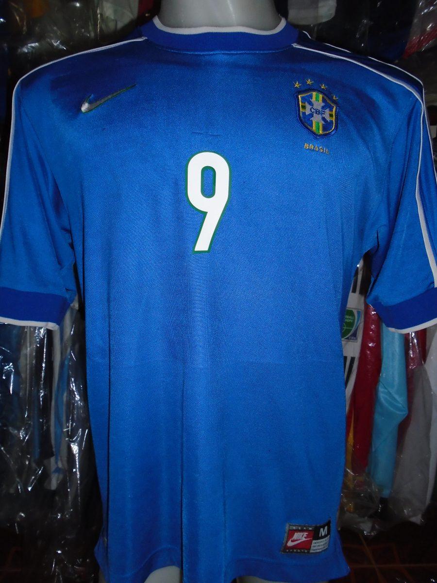 0f15f185e camiseta selección brasil mundial francia 1998 ronaldo  9 m. Cargando zoom.