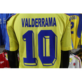 Camiseta Seleccion Colombia #10 Valderrama Mundial 1998 Xdx