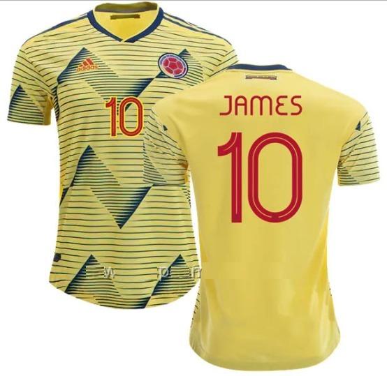 buy online 1e7b6 3f548 falcao Colombia 9 James 2019 Match 10 Seleccion Camiseta log ...