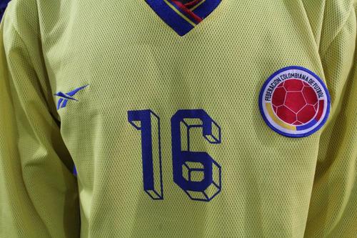 camiseta seleccion colombia de 1998 #16 reebok xdx