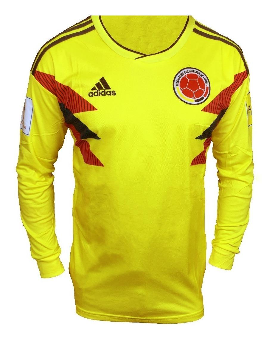 Amarilla Camiseta Selección Manga Larga Colombia Hombre shdtCQr