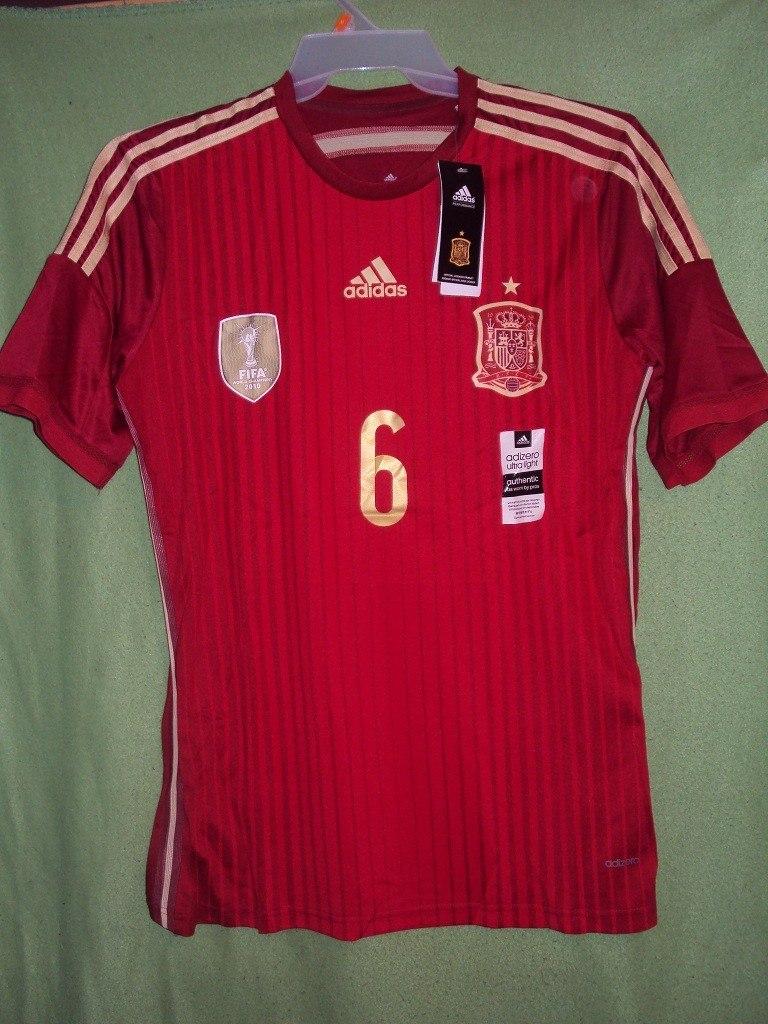 Camiseta Selección España Mundial Brasil 2014 A. Iniesta ...