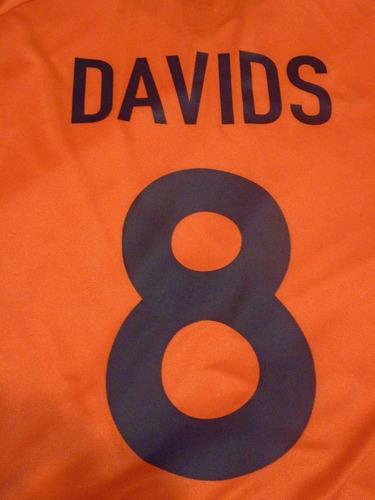 camiseta selección holanda euro 2000 bélgica nike davids #8
