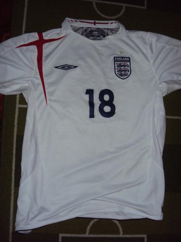 camiseta selección inglaterra alemania 2006 carrick #18 m