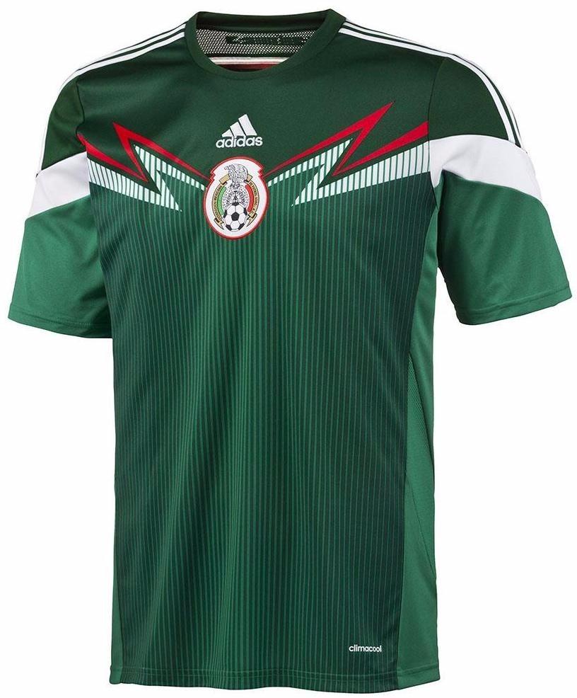 93a04c7551 camiseta seleccion mexicana adidas titular mundial 2014. Cargando zoom.