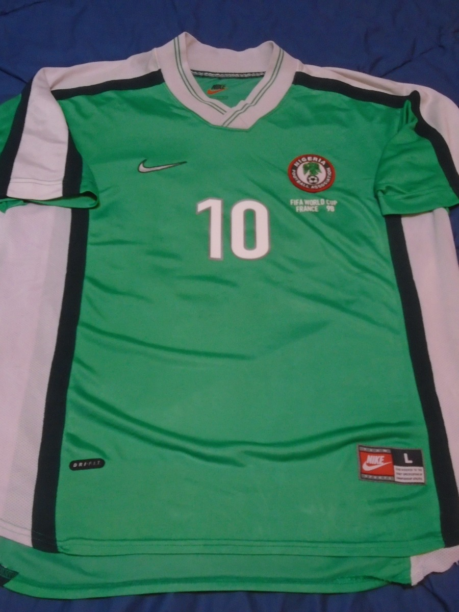 6d914dc9b5 Camiseta Selección Nigeria Mundial Francia 1998 Okocha  10 L ...