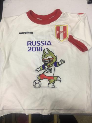 camiseta selección peruana rusia 2018 niños y adultos