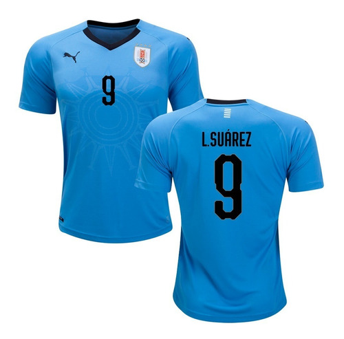 camiseta selección uruguay mundial rusia 2018 - luis suárez