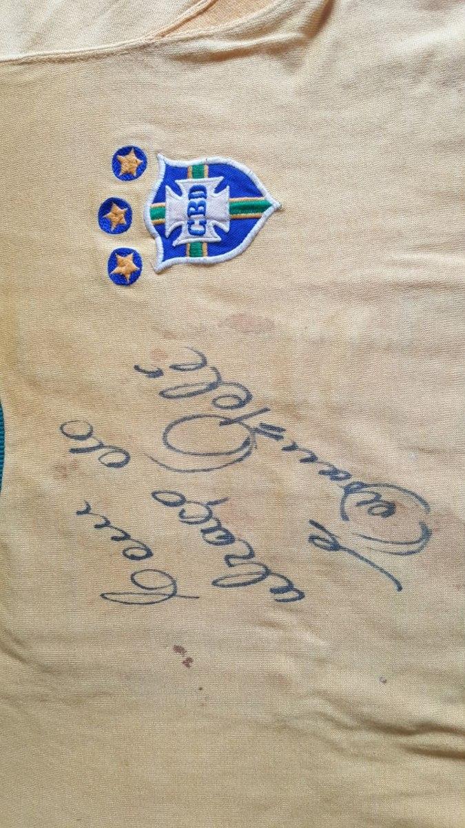 a1feb9ed3b camiseta seleção brasileira copa 1970 autografada pelé. Carregando zoom.