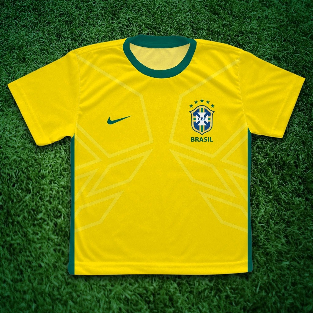 a346a14d6c camiseta seleção brasileira infantil personalizada c  nome. Carregando zoom.