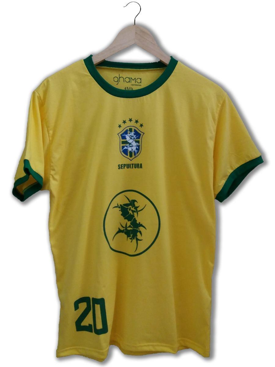 ae175bf40110e camiseta seleção brasileira sepultura masculina. Carregando zoom.