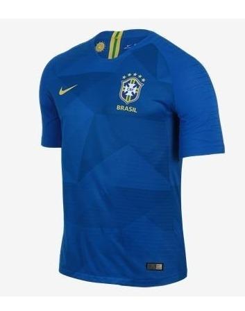 0ac062296 Camiseta Seleção Brasileira Treino Azul 2018 Nike Oficial - R  199 ...