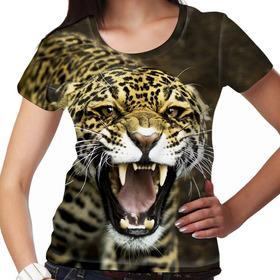 Camiseta Selvagem Onça Pintada Feminina