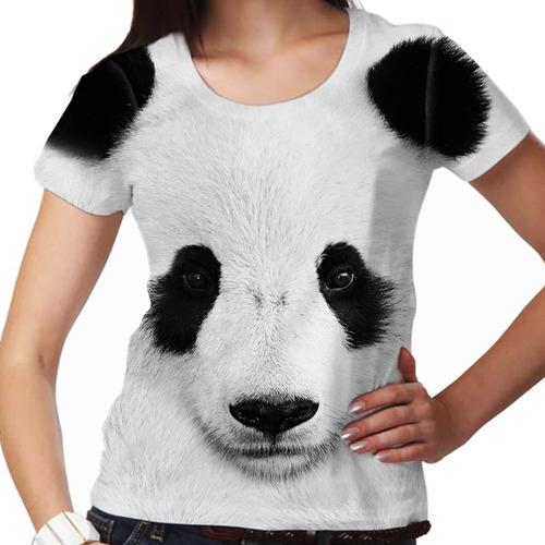 camiseta selvagem urso panda feminina