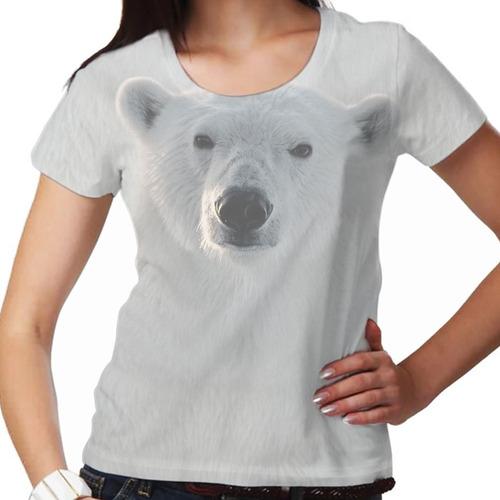 camiseta selvagem urso polar feminina