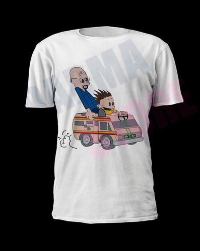 camiseta seriado breaking bad - calvin e haroldo