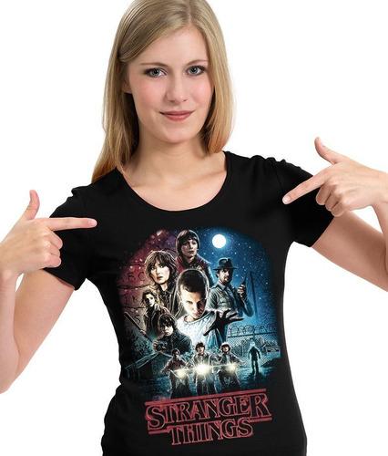 camiseta série stranger things (nerd / geek) camisa blusa