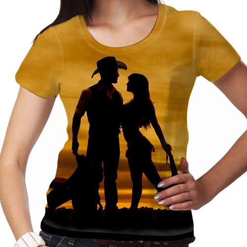 camiseta sertanejo sunset feminina
