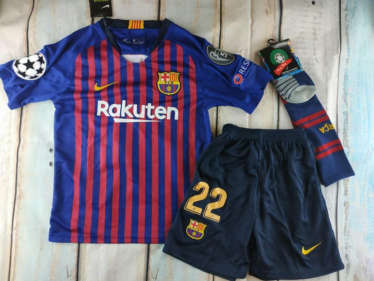 Camiseta+short+calcetas Barcelona 2018-2019 Niño Vidal -   29.900 en ... 4ff3a691599