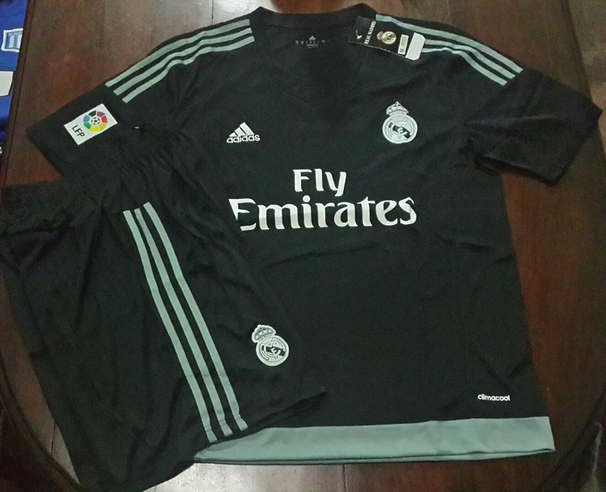 317177358261b camiseta + short - real madrid - negro  gris - arquero. Cargando zoom.