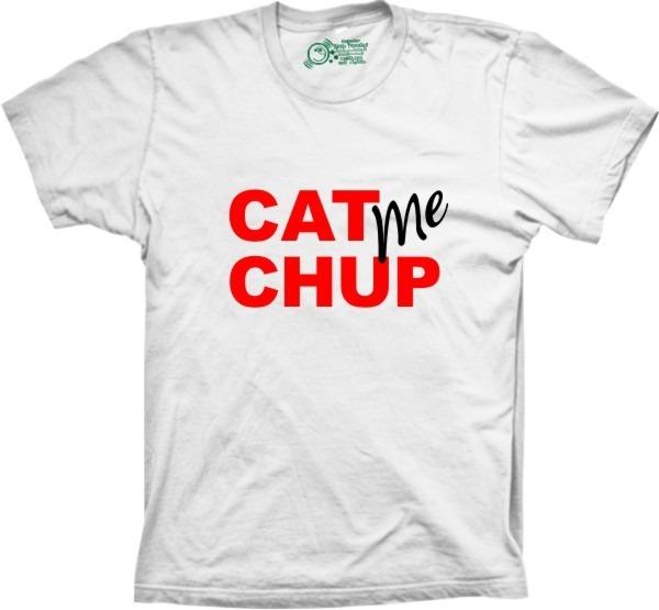 79b552f1698a4 Camiseta Silk Engraçada Cat Me Chup - R  45