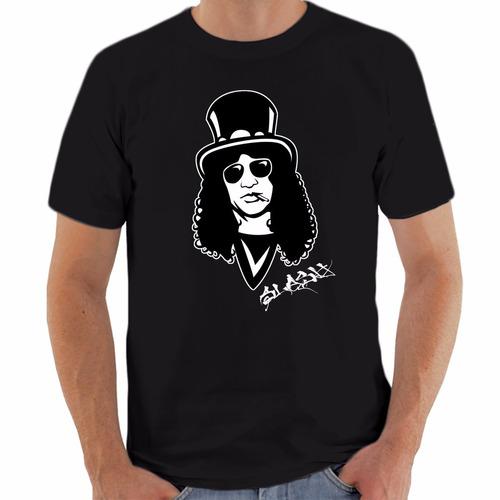 camiseta slash - saul hudson - guns n roses - frete grátis