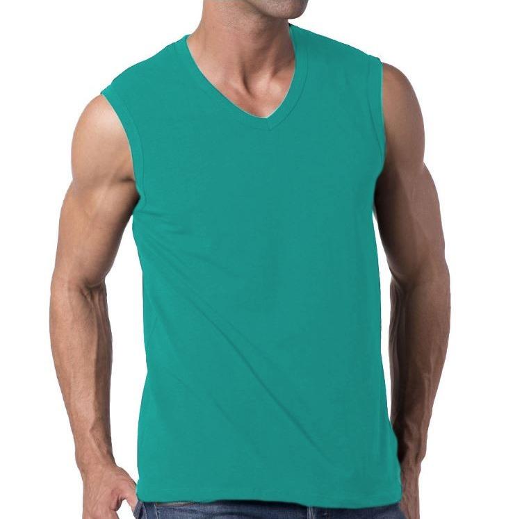 478adf39fe Camiseta Slim Fit Machão Regata Masculina Blusa Verde - R  76