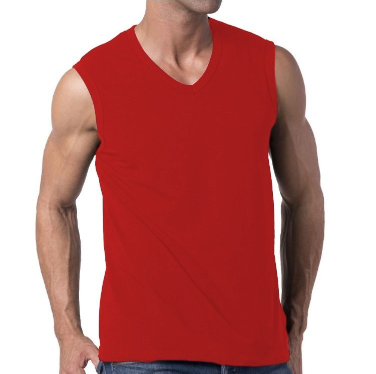 1a90bd11c0368 Camiseta Slim Fit Machão Regata Masculina Blusa Vermelha - R  76